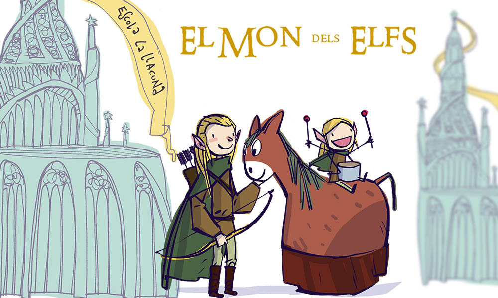 Els elfs es preparen per la Rua de Carnaval al Poblenou