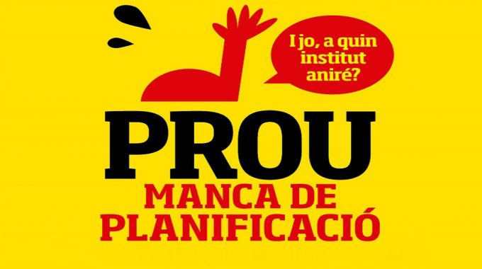 Manifest De La Plataforma Per La Defensa De L'educació Pública Del Poblenou