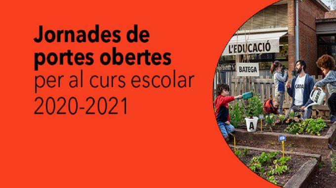 Preinscripció Curs 2020-2021: Jornades De Portes Obertes