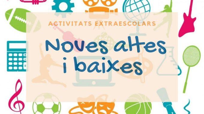 Noves Altes I Baixes A Activitats Extraescolars