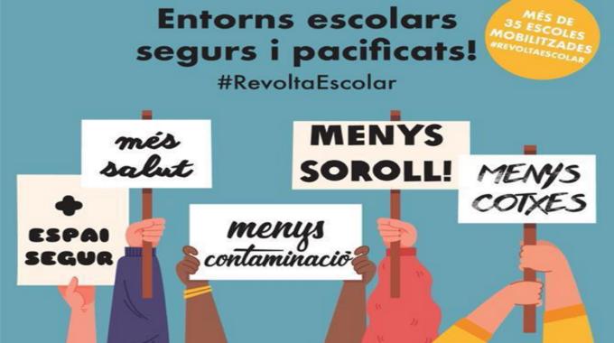 #RevoltaEscola A La Llacuna: Nou Tall De Carrer El 7 De Maig