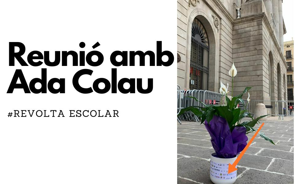 """Les famílies de les escoles """"revoltades"""" contra la contaminació ens reunim per primer cop amb Ada Colau"""