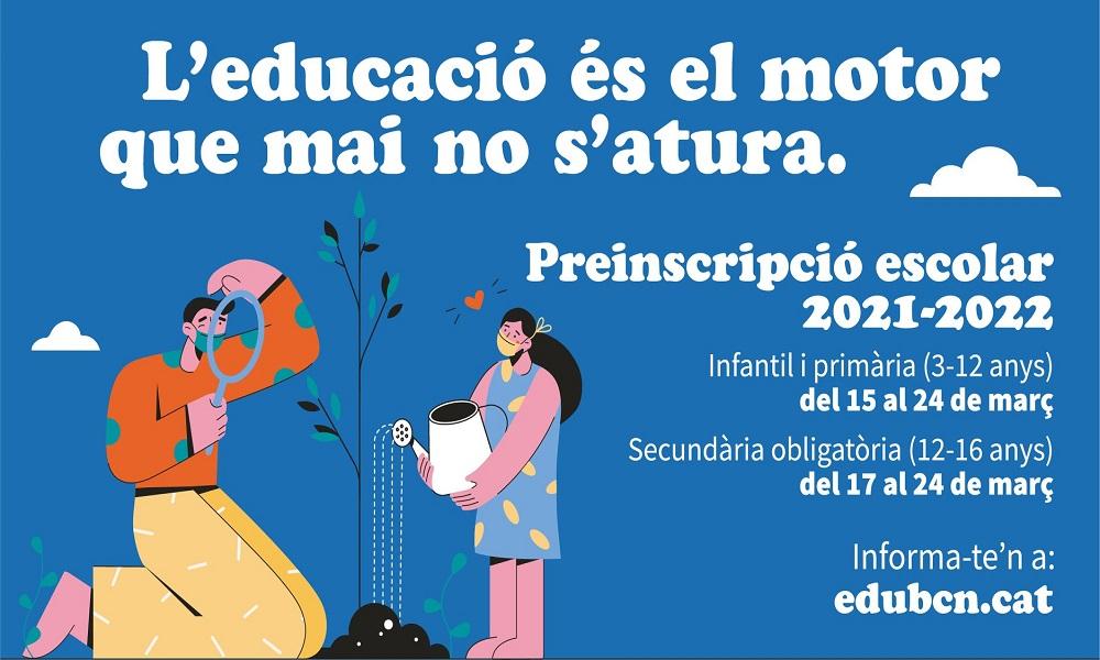 El Districte organitza dues sessions informatives sobre la preinscripció escolar per P3 i 1r d'ESO