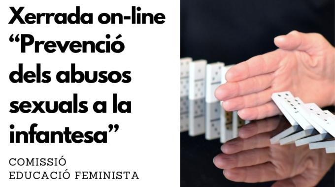 """Xerrada On-line """"Prevenció Dels Abusos Sexuals A La Infantesa"""""""