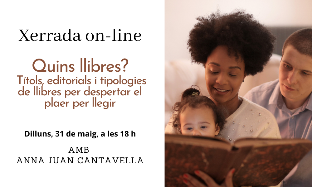 """Xerrada: """"Quins llibres?"""" amb l'Anna Juan Cantavella"""