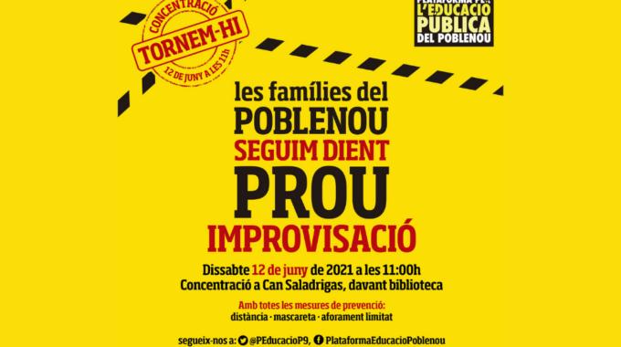 Concentració El 12 De Juny En Defensa De L'escola Pública Al Poblenou
