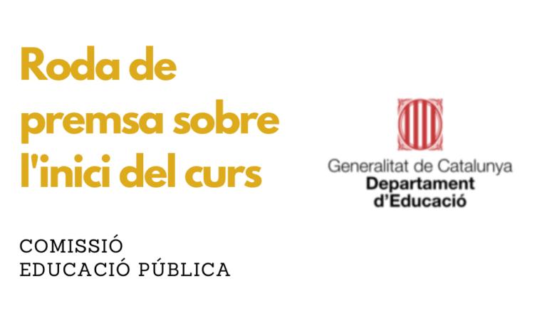 Departament d'Educació: Roda de premsa sobre l'inici del curs escolar 2021-22