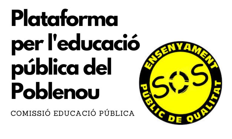 Plataforma per l'educació pública del Poblenou